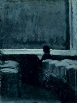 "Untitled, ""Solitary figure in theatre"" by Edward Hopper"