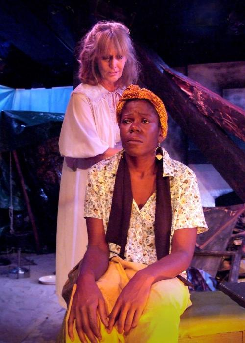 "Jacqueline Schultz and Julanne Chidi Hill in ""The Blue Iris"""