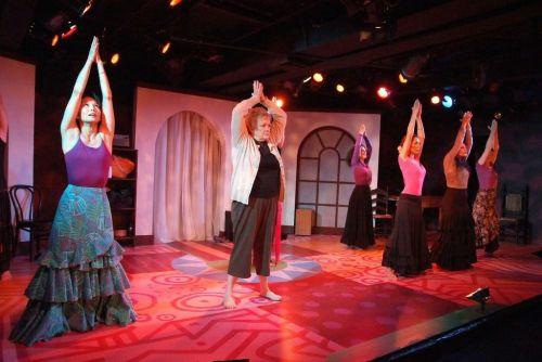 Rochelle (Pamela Dunlap) takes her first flamenco class.