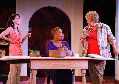 "Tamlyn Tomita, Juanita Jennings, Pamela Dunlap in ""Heart Song"""