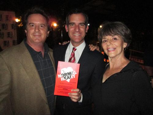 Stephen Sachs and Deborah Lawlor with LA Mayor Eric Garcetti
