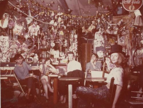 Caffe Cino, 1960's. Fountain Theatre's Deborah Lawlor sitting far right.