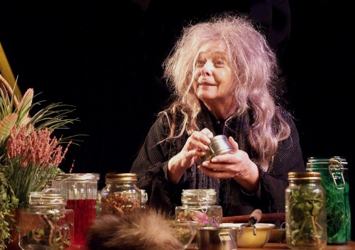 Jenny O'Hara in 'Broomstick' (rehearsal photo by Ed Krieger)