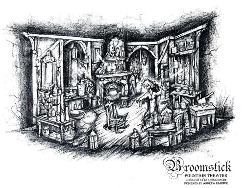 'Broomstick' set design by Andrew Hammer