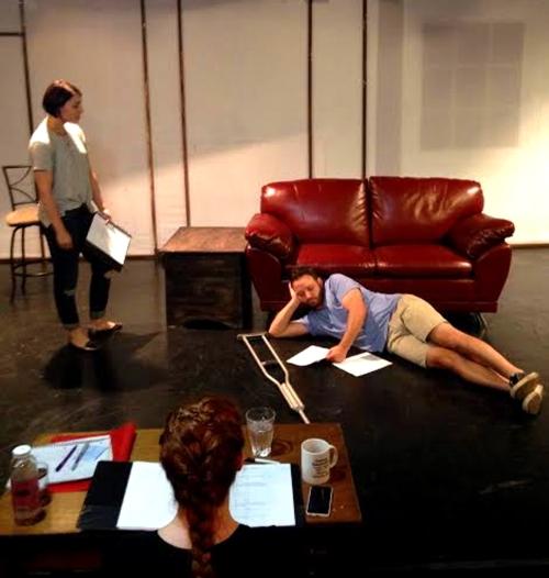 Rehearsal for 'The Better Part of Forever'.