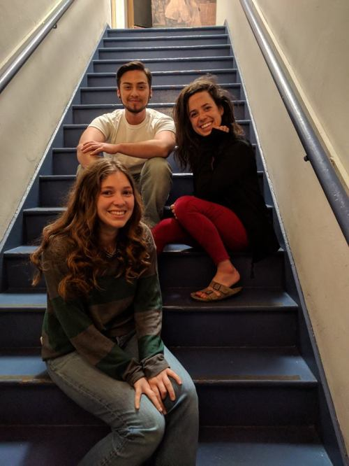Jessica Hailey Broutt, Kieran Medina and Amanda Marie Kohr at Fountain Theatre.